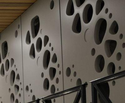 panel decorativo de hormigón / de pared / perforado
