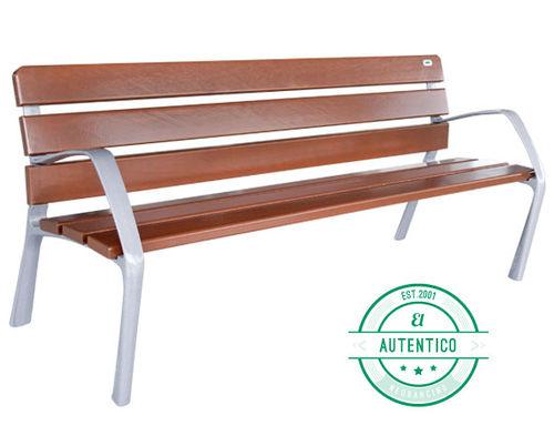 Banco público / clásico / de madera / de aluminio fundido NEOBARCINO Benito