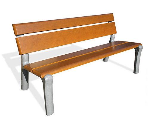 Banco público / clásico / de madera / de hierro fundido DELTA XXI Benito