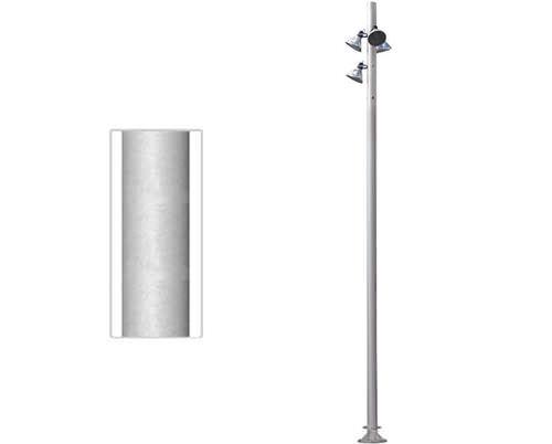 mástil de iluminación / de aluminio