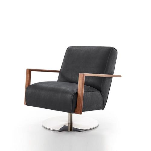sillón moderno / de cuero / de roble / de nogal