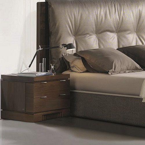 mesilla de noche moderna / de madera / rectangular / con cajón