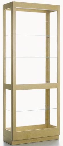 vitrina moderna / de fresno / de roble
