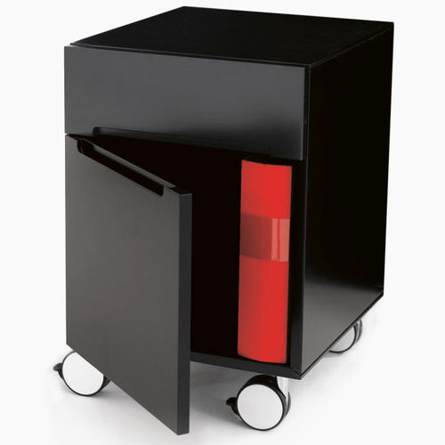 mesa carrito de oficina / de servicio / para el sector servicios / de madera
