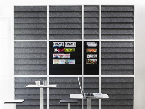 panel acústico mural / de poliéster / para el sector servicios