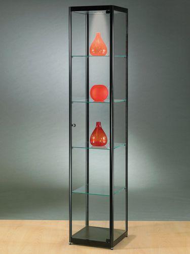 vitrina moderna / de vidrio / de madera / aluminio