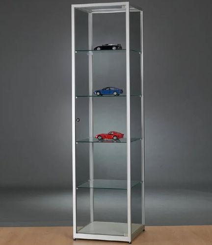 vitrina moderna / de vidrio / de madera / de aluminio anodizado