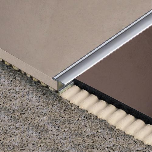 perfil de separación de aluminio / de latón / de acero inoxidable / para baldosas