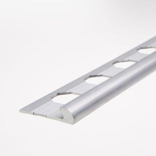perfil de acabado de aluminio / para baldosas / para ángulo exterior