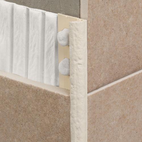 perfil de acabado de PVC / para baldosas / cuarto de círculo