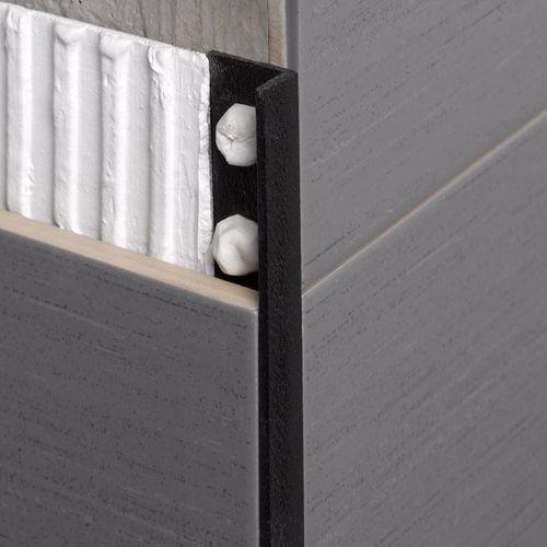 perfil de acabado de PVC / para baldosas / para ángulo exterior