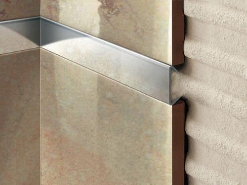 perfil de separación de acero / de acero inoxidable / para baldosas