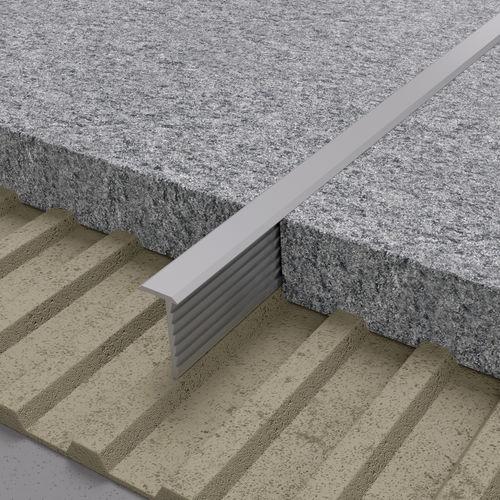 perfil de separación de aluminio / de latón / para ángulo exterior / para baldosas