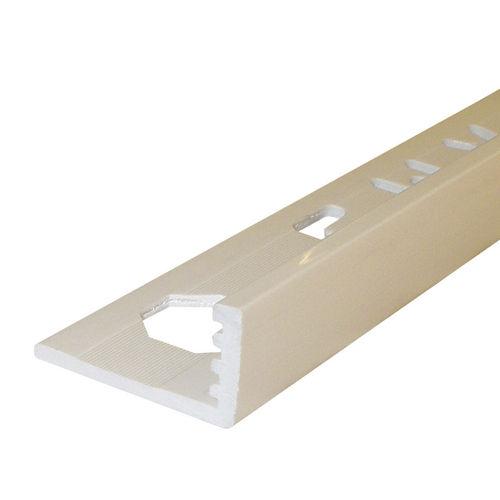 perfil de acabado de PVC / para ángulo exterior / para baldosas