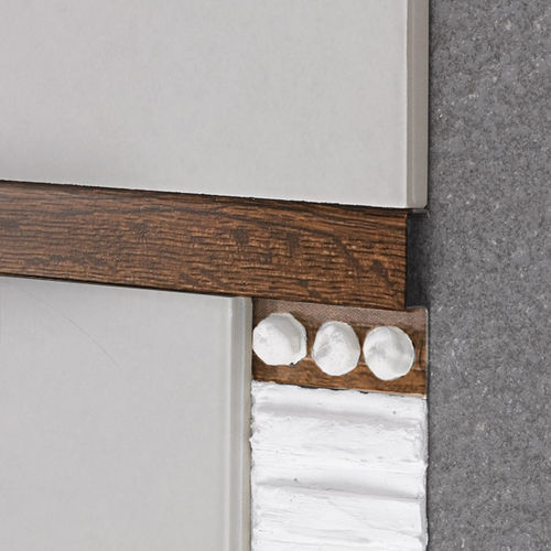 perfil de acabado de aluminio / para tabique