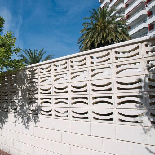 bloque de celosía de hormigón prefabricado / de jardín