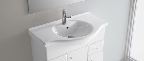 Lavabo de empotrar / otras formas / de porcelana / moderno NILO 1050 Salgar