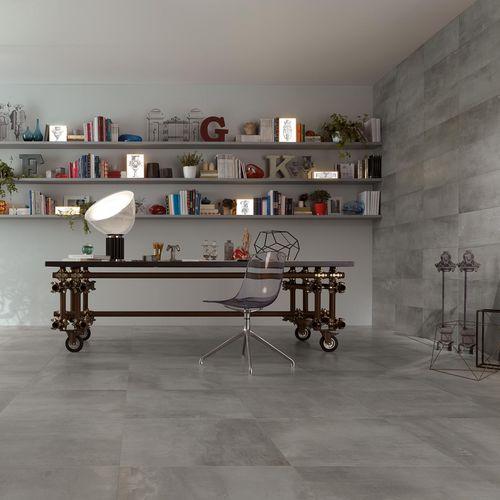 Baldosa de interior / de pared / de suelo / de gres porcelánico PETITOT : ZINC Novoceram sas