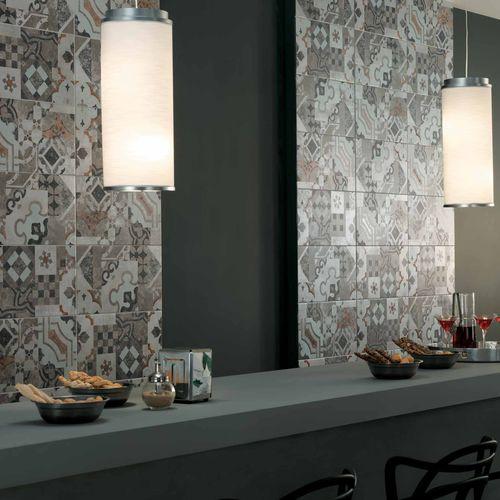 Baldosa de interior / de pared / de gres porcelánico / con motivos AZIMUT : PATCHWORK Novoceram sas