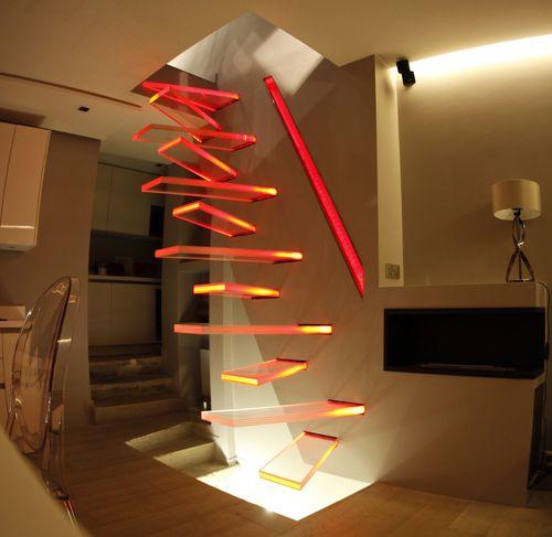 escalera recta - Trescalini - Escaliers, structures et garde-corps