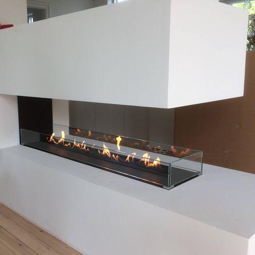 chimenea de bioetanol / moderna / hogar abierto / de 3 caras