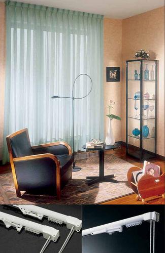 Riel para cortina accionado mediante cordones / para montaje en techo / para cortinas fruncidas / para uso doméstico PROGETTO 420 MOTTURA