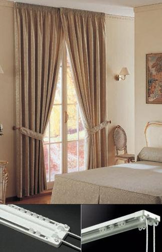 Riel para cortina accionado mediante cordones / para montajes en techo / para cortinas fruncidas / para uso doméstico SURF 324 MOTTURA