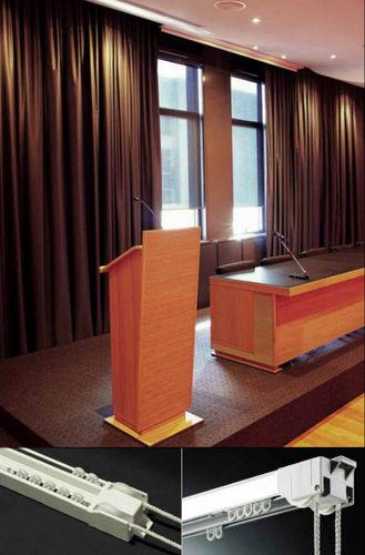 Riel para cortina accionado mediante cordones / para montaje en techo / para cortinas fruncidas / para uso doméstico TEATRO 404 MOTTURA