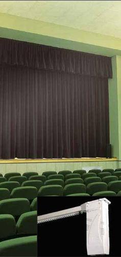 riel para cortina motorizado / para cortinas fruncidas / para  telón de teatro / profesional