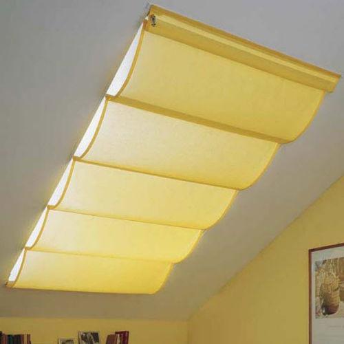 sistema de apertura para cortinas plegable / accionado mediante cadena / para lucernario