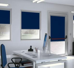 Estores enrollables / de aluminio / para uso profesional / con cajón para empotrar ventanas ROLLBOX SERIE 40 MOTTURA