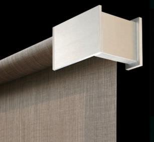 estor enrollable / de aluminio / para montaje en techo