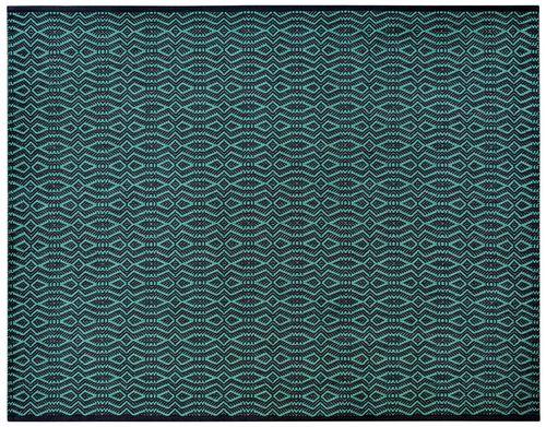 alfombra moderna / con motivos / de viscosa / de lino