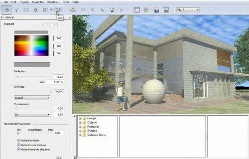 Programa de render / para estructura de hormigón / 3D ATLANTIS STUDIO Artlantis