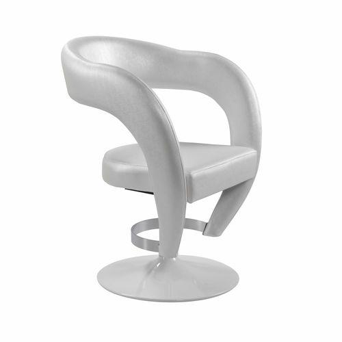 sillón de peluquería de acero / con base central