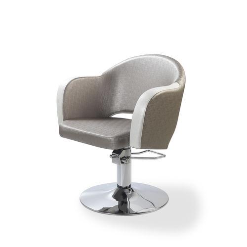 sillón de peluquería de poliuretano / con base central