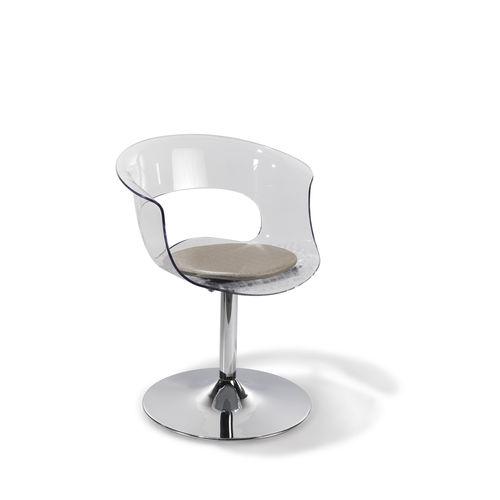 sillón de peluquería de fibra acrílica / con base central