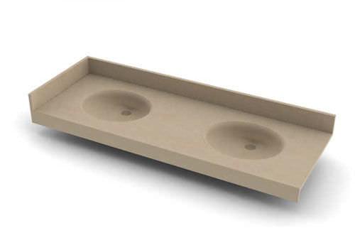 encimera de lavabo doble / de poliéster