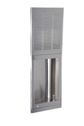 fuente para beber empotrable / de interior / de acero / con mando electrónico