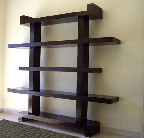 Estanterias de madera para salas