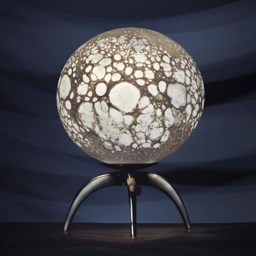 Lámpara de mesa / de diseño original / de vidrio / de vidrio soplado LUNE Semeur d'étoiles