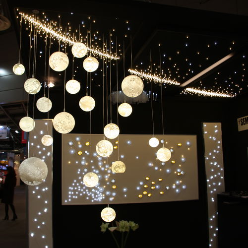 Lámpara araña moderna / de vidrio soplado / LED ÉTOILÉ + LUNES Semeur d'étoiles