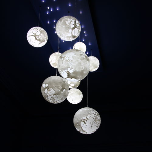 Lámpara suspendida / moderna / de vidrio soplado / de interior LUNES Semeur d'étoiles