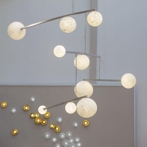 Lámpara araña de diseño original / de vidrio soplado / de aluminio MOBILE DE LUNES Semeur d'étoiles