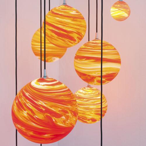 Lámpara araña de diseño original / de vidrio soplado COUCHER DE SOLEIL Semeur d'étoiles