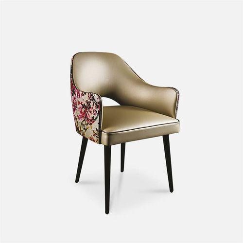 silla de restaurante moderna / tapizada / con reposabrazos / bistró