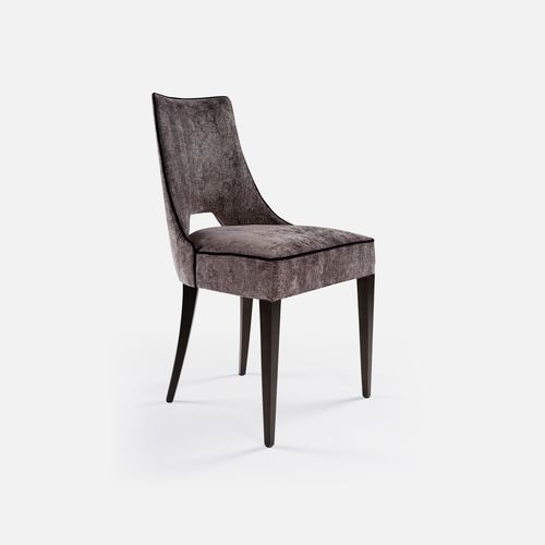 silla de restaurante moderna / tapizada / de tejido / de haya