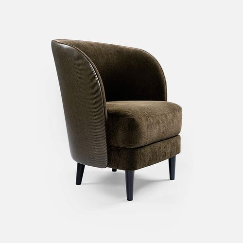 sillón moderno / de tejido / de haya / con funda extraíble