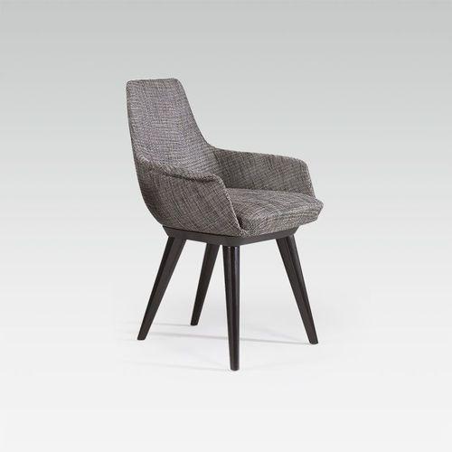 sillón de oficina moderno / de tejido / de cuero / de haya