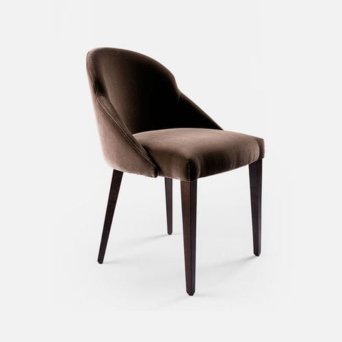 silla moderna / tapizada / de tejido / de haya